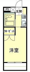 東京都荒川区荒川2丁目の賃貸マンションの間取り