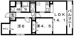 メルヴェーユ藤井寺[301号室号室]の間取り