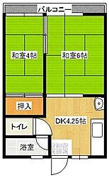 芦田コーポ[2階]の間取り