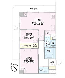 中新井サンライトマンション[4階]の間取り