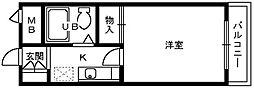 フルレゾン鳳[1階]の間取り