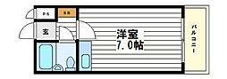 心斎橋レジデンス[9階]の間取り