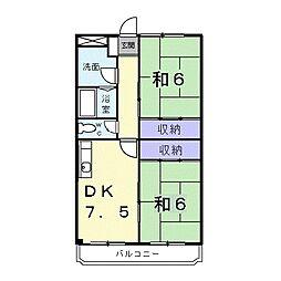 ハイネスR&T[3階]の間取り