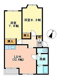 エルシャトーII[2階]の間取り
