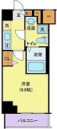グランヴァン横濱南 10階1Kの間取り