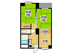 生野コーポ[3階]の間取り