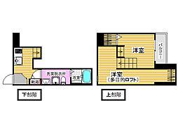 リノメゾン片江[1階]の間取り