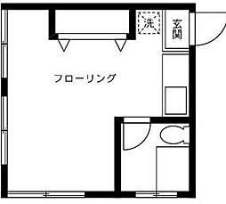 神奈川県横浜市西区戸部町3丁目の賃貸マンションの間取り