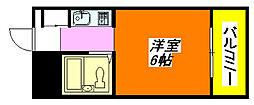 ハイツ八戸ノ里 307号室[3階]の間取り