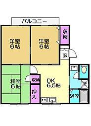 リヴェール2号館[1階]の間取り