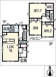 [一戸建] 愛知県愛知郡東郷町白鳥2丁目 の賃貸【/】の間取り