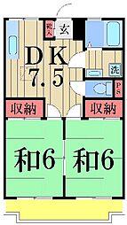 サンハイツ永浦[102号室]の間取り