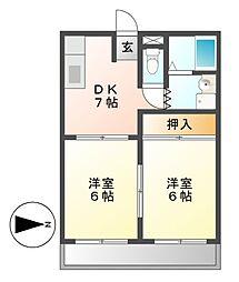 CASA K2[2階]の間取り