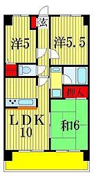 ライオンズマンション東四つ木[7階]の間取り