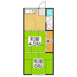 吉村マンション[303号室]の間取り