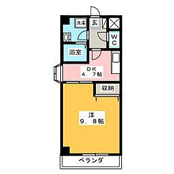グレイス第8マンション[4階]の間取り