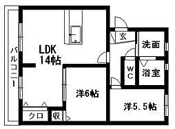 MSタウンIII[C-2号室]の間取り