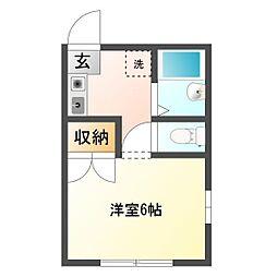 ミヤビハイツII[1階]の間取り