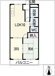 グリーンハウスA[1階]の間取り