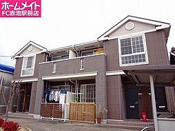 愛知県名古屋市緑区尾崎山1丁目の賃貸アパートの外観