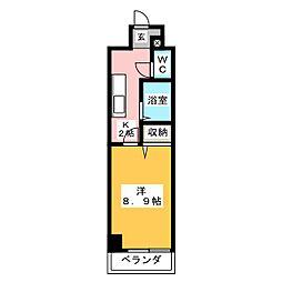 ベナレス藤枝[4階]の間取り