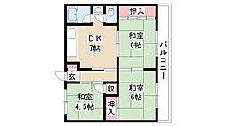 愛知県名古屋市南区中割町1丁目の賃貸マンションの間取り