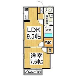 ハイツMIYA[2階]の間取り