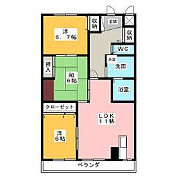 シンティラ三ノ輪[1階]の間取り