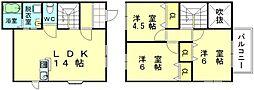 [テラスハウス] 福岡県福岡市東区美和台新町 の賃貸【/】の間取り