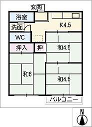 第二香山ハイツ[1階]の間取り