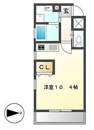 eternal栄(エターナル)[4階]の間取り