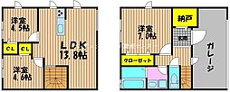 [タウンハウス] 岡山県岡山市北区奥田本町 の賃貸【/】の間取り