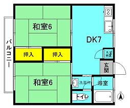 第1佐川ハイツ[202号室]の間取り