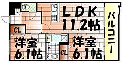 ニューシティアパートメンツ南小倉I[9階]の間取り