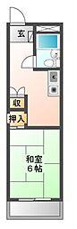 愛知県愛知郡東郷町大字和合字牛廻間の賃貸マンションの間取り