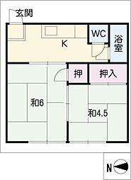 坂井荘[1階]の間取り