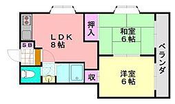リード岡田II[305号室]の間取り