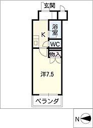 クレセント葵[3階]の間取り