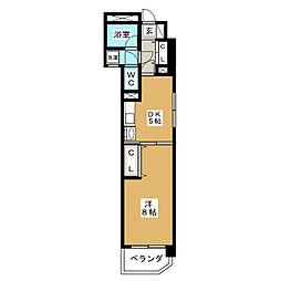 レインボー上飯田[7階]の間取り