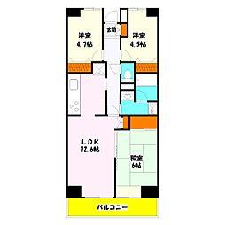 プロスペール谷塚 弐番館[2階]の間取り