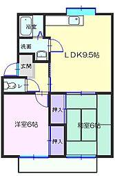 和歌山県有田市宮原町道の賃貸アパートの間取り