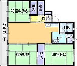 ビレッジハウス江別1号棟[1階]の間取り
