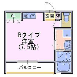 Taiheisou 1[2階]の間取り