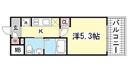 エスリード神戸WEST[208号室]の間取り