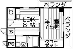 ドゥミルアン東大阪 荒本北2 荒本3分[5階]の間取り