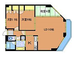 神代バタニカルガーデンズマンション[3階]の間取り