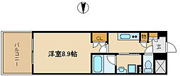 UNO武庫之荘[3階]の間取り