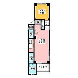 デビュタハウス[1階]の間取り