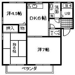 ボルトシティ熊取2[2階]の間取り