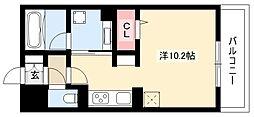 M&Mルコネッサンス 2階ワンルームの間取り